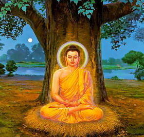 Guatam Buddha under tree