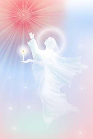 God and His Angel - GOD is light - BK