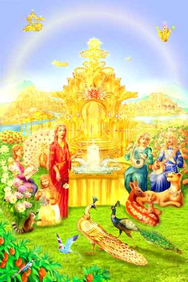 Satyug, Beautiful Royal Gardens of Heaven - Golden Age - BK