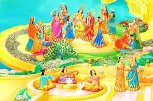 Dancing with Radhe-Krishna - Golden Age - Satyug - Heaven - New World -BK